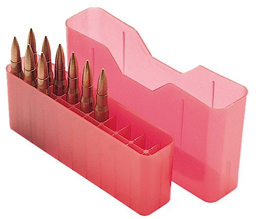 MTM J20L29 20rd Slip-Top Lg Rifle Ammo Box Red Poly