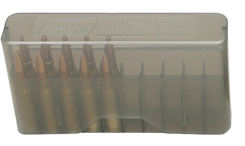 MTM J20M41 20rd Slip-Top Med Rifle Ammo Box Smoke Poly