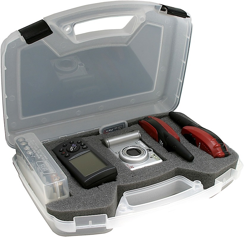 MTM SEC Shooting Accessory Case - Electronics w/Foam Clear Plastic