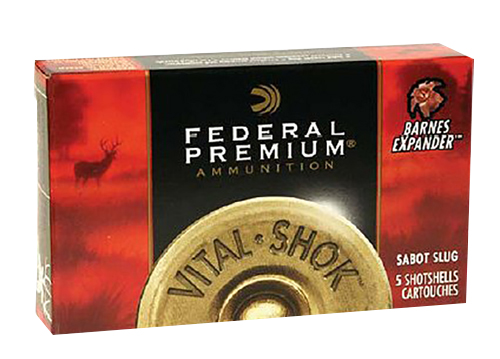 Federal PB127RS Vital-Shok TruBall 12ga Rifled Slug 2.75