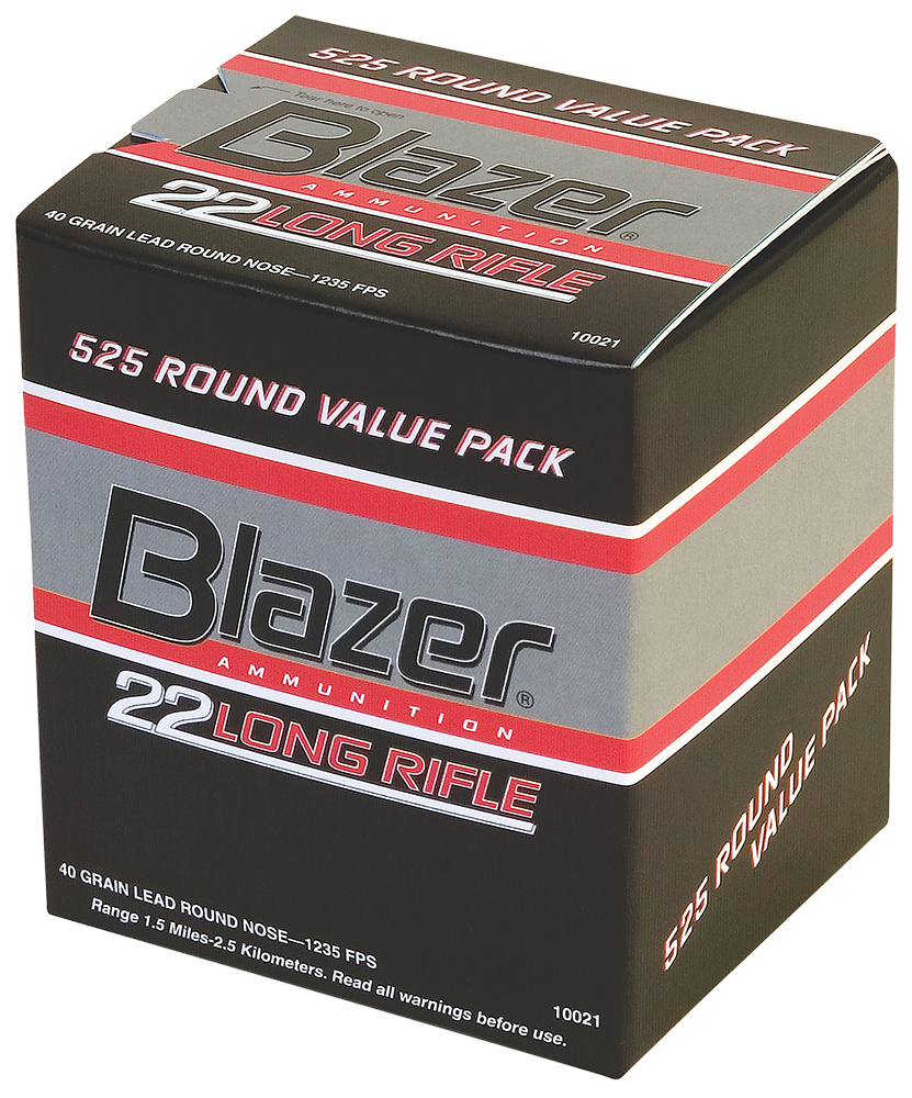 CCI 10021 BLAZER 22 Long Rifle Lead Round Nose 40 GR 525Box/10Case