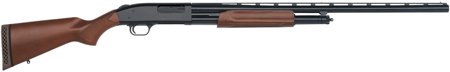 "Mossberg 50120 500 Pump 12 ga 28"" 3"" Wood Stk Blued"
