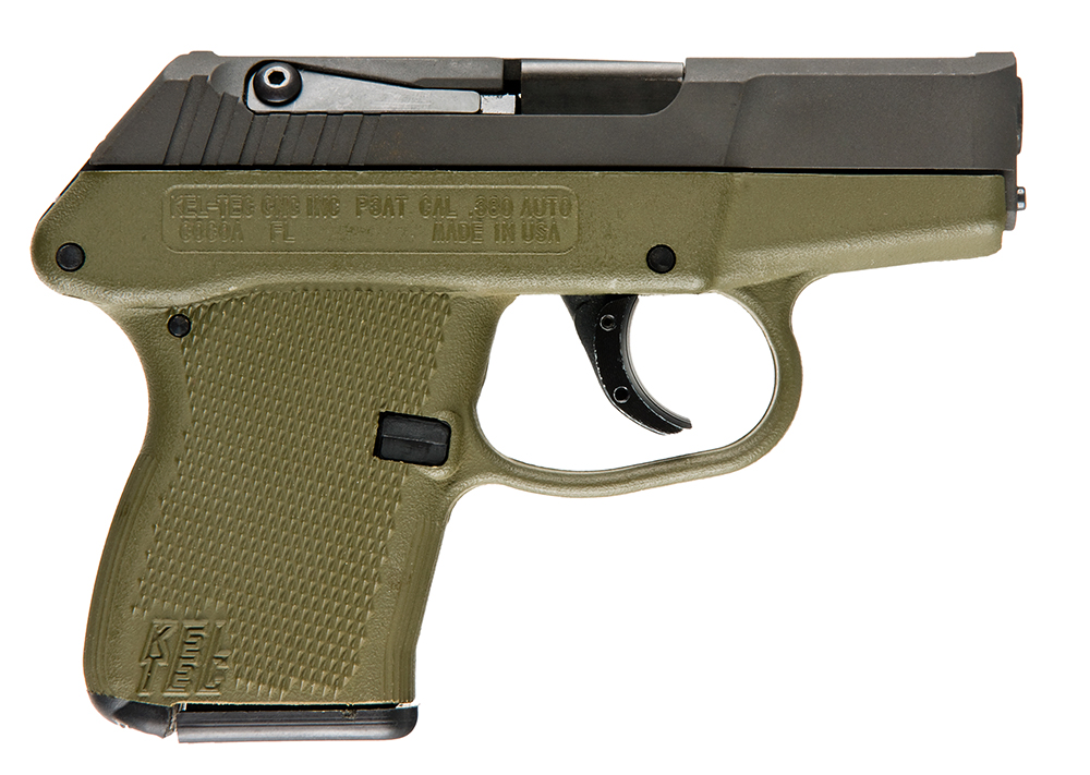 Kel-Tec P3ATPKGRN P-3AT DAO 380 ACP 2.75″ 6+1  Green Poly Grip Parkerized Finish