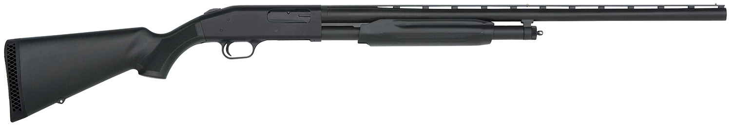 "Mossberg 56420 500 Pump 12 ga 28"" 3"" Black Synthetic Stk Blued"