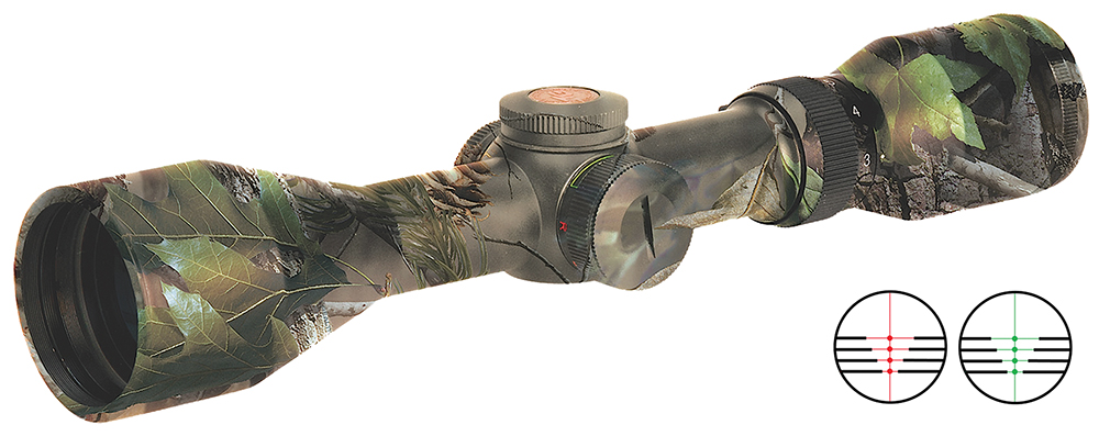 Truglo TG8515CLC Tru Brite 1.5-5x32mm 21.5-60.2ft@100yds 1″ Tube Camo IL 2 Color