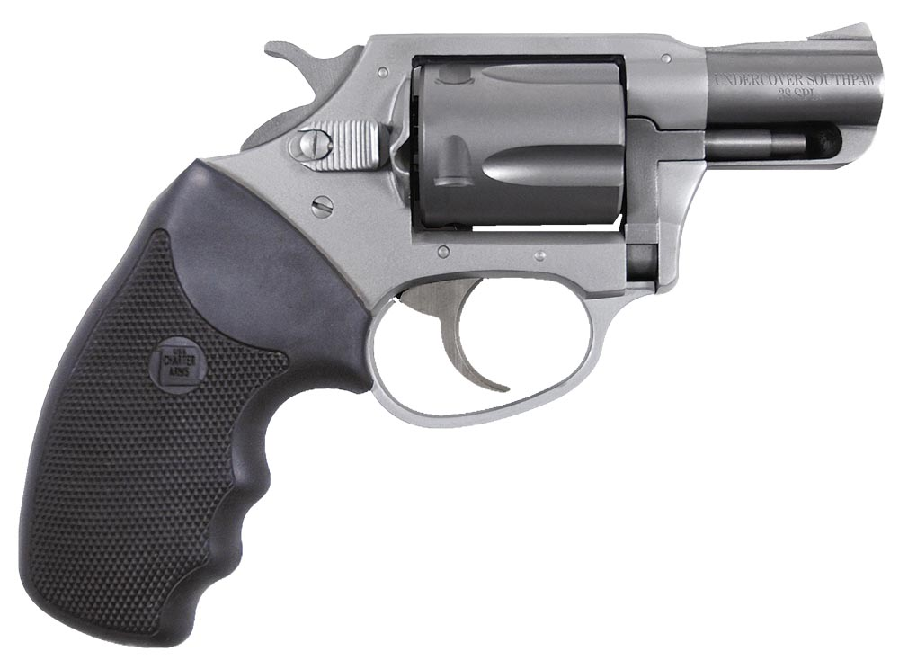 Charter Arms 93820 Southpaw Undercover Lt 38 Special 2″ 5rd Blk Rubber Grip Alum