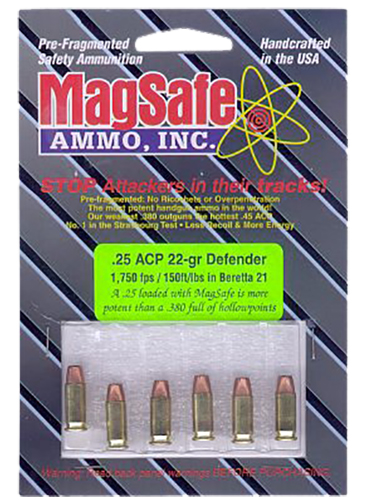 Magsafe 40D 25 ACP 40 Smith & Wesson Pre-Fragmented Bullet 84 GR 10 Rds