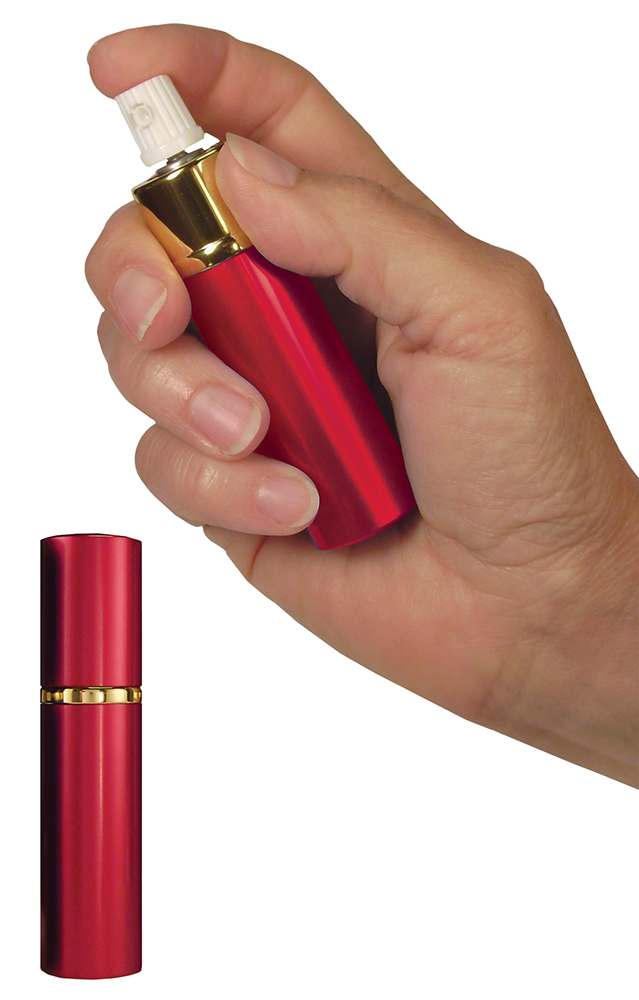 PSPI LSPS14R Hot Lips Pepper Spray Lipstick Tube .75 oz Sprays Up to 10 Feet Red