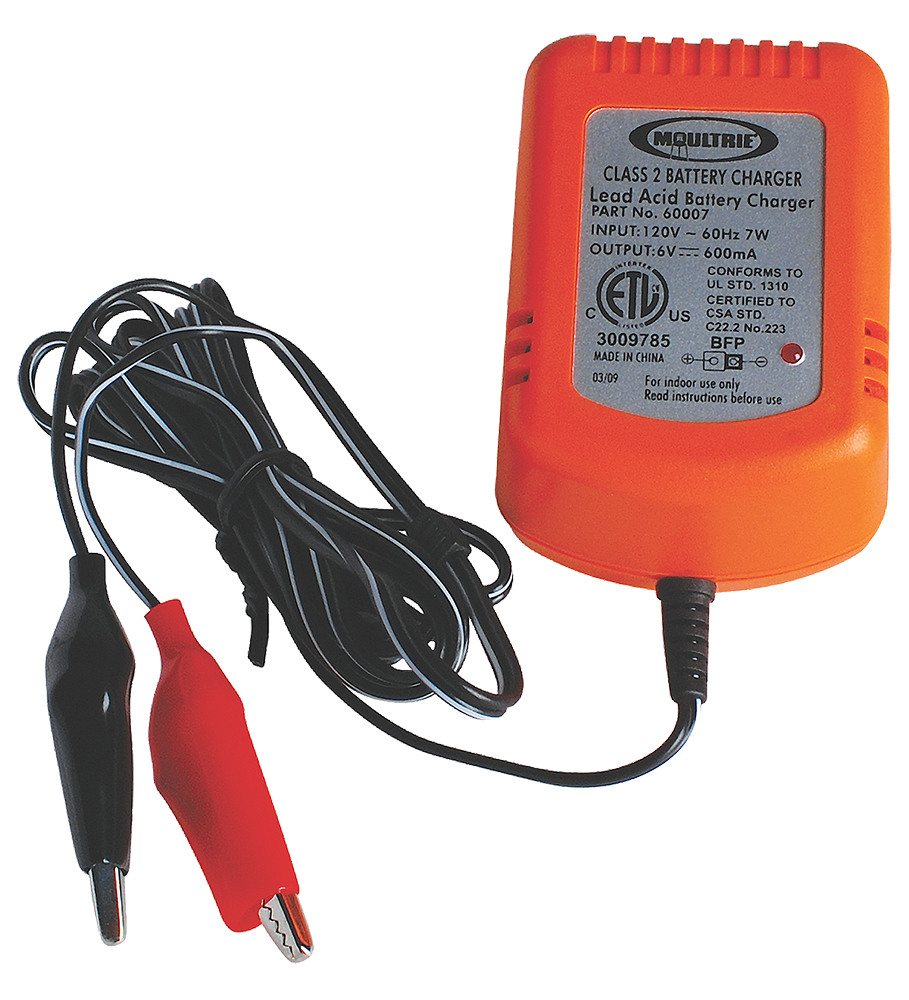 Moultrie MFHBC6 Battery Charger 6V Black/Orange