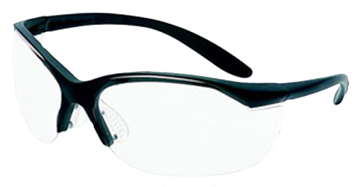 Howard Leight R01535 VAPOR II Shooting/Sporting Glasses Black Frame/Clear Lens