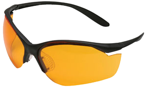 Howard Leight R01537 VAPOR II Shooting/Sporting Glasses Black/Orange