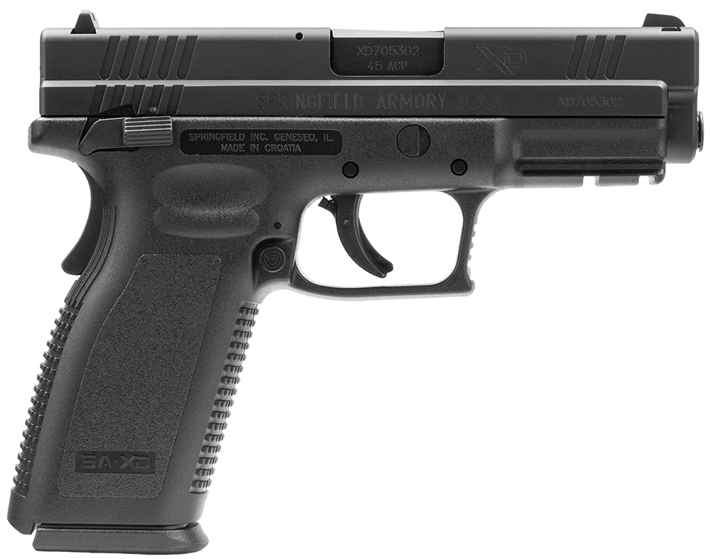 SPRINGFIELD XD 45ACP 4IN BLK W/THUMB SAFETY