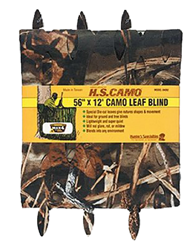 Hunters Specialties 04092 Camo Leaf Blind 12'x56″ Max-4