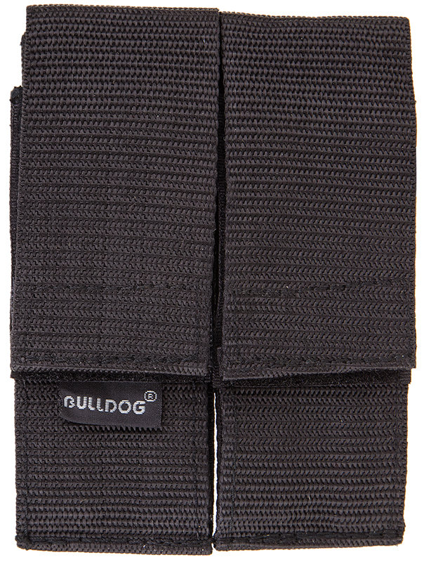 Bulldog WMAGL Double Magazine Holder w/Belt Loop Velcro-Close Nylon Black
