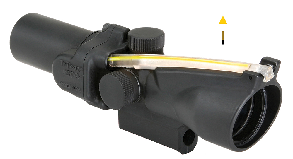 Trijicon TA452 ACOG 1.5x 24mm 25.6ft@100yds FOV Amber Triangle Tube 5.92oz Blk