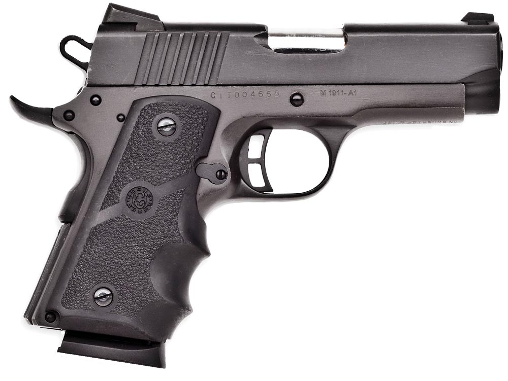 "Citadel CIT45CSP M-1911 Compact Single 45 ACP 3.5"" 6+1 Wood Grip Black"