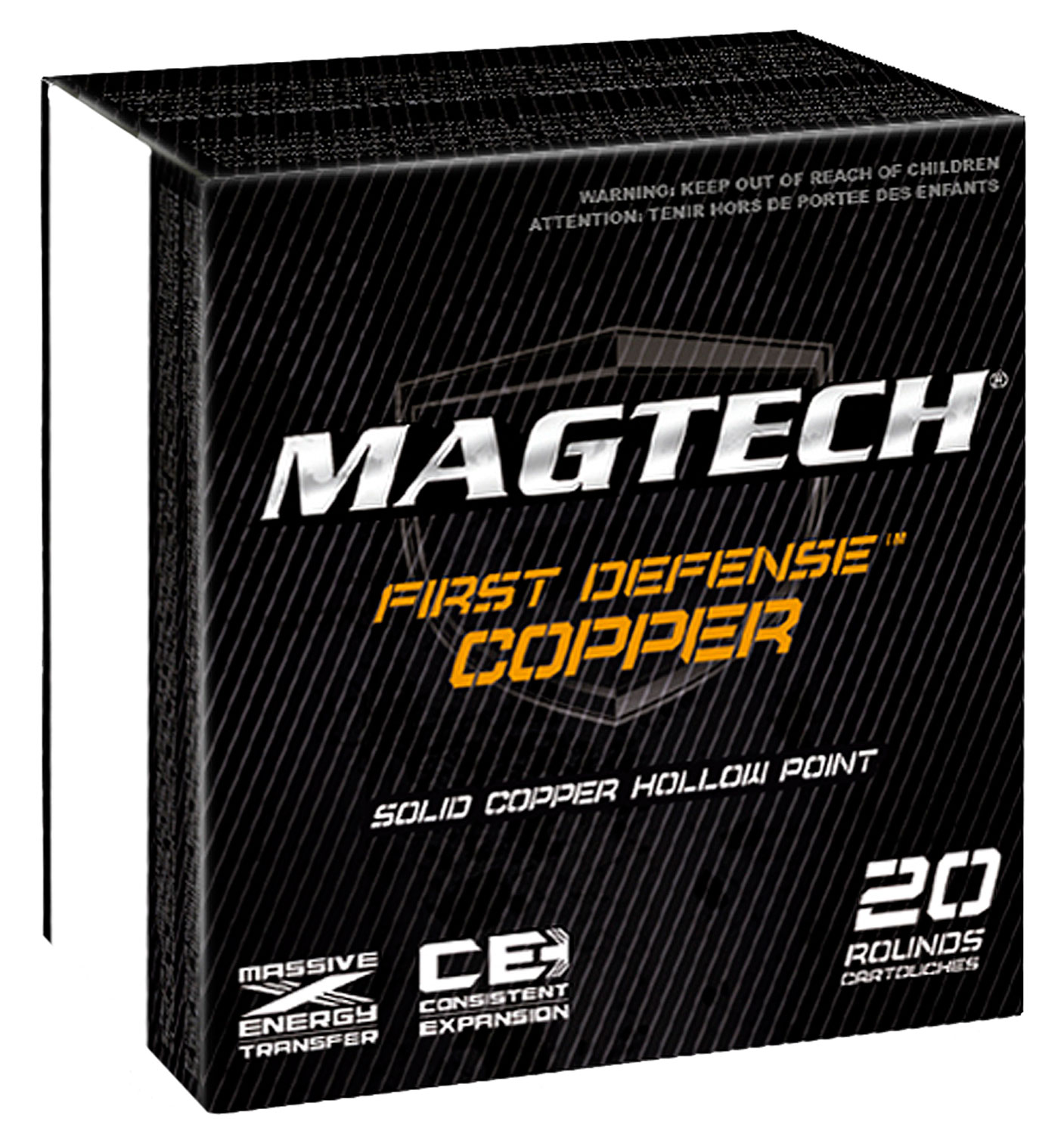 Magtech FD45GA FIRST DEFENSE 45 GAP Solid Copper Hollow Point 165 GR 20Box/50Cs