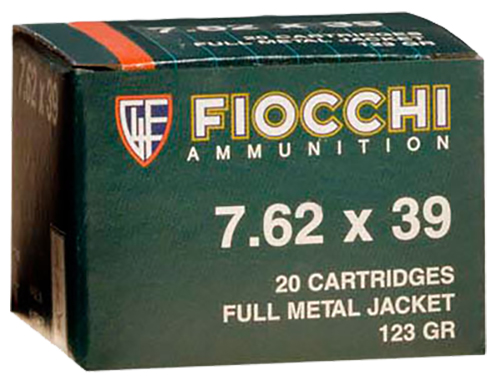 Fiocchi 762SOVA Rifle Shooting Dynamics 7.62X39 FMJ 123 GR 20Bx/50Cs