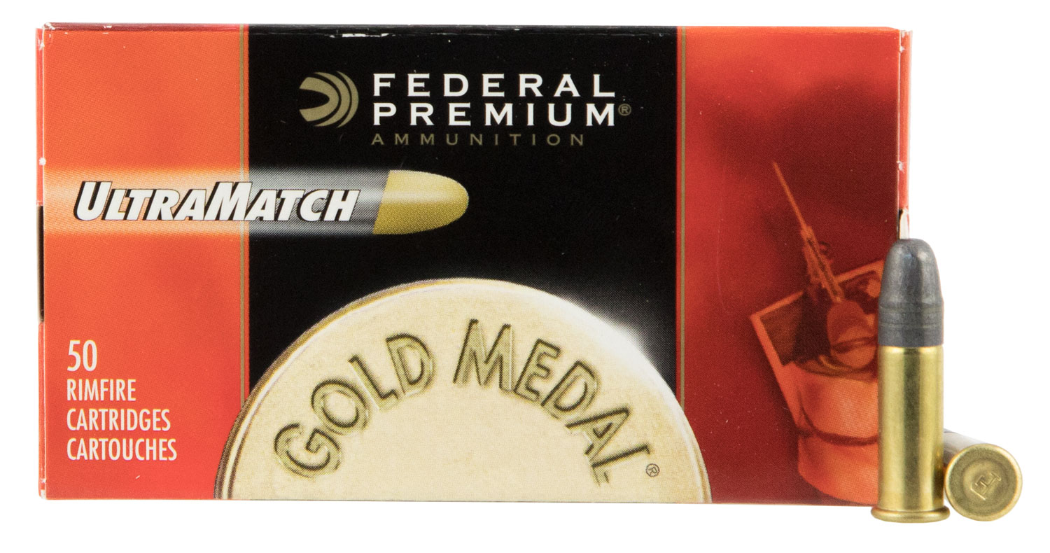 Federal UM22 Premium 22 Long Rifle Solid 40 GR 50Box/100Case