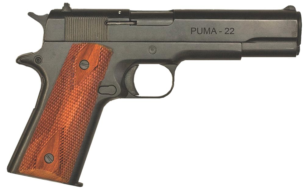Howa PCP191122 Citadel M-1911 22 Long Rifle 5″ 10+1 Walnut Grip Black Finish
