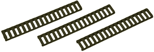 Falcon Industries Inc 3 Pack OD Green Low Profile Rail Cover 18 Slot