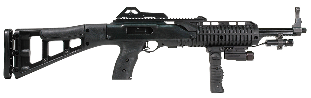 Hi-Point 995FGFLLAZTS Carbine SA 9mm 16.5″ 10+1 Syn Stk Blk w/Fwd Fld Grip/Light