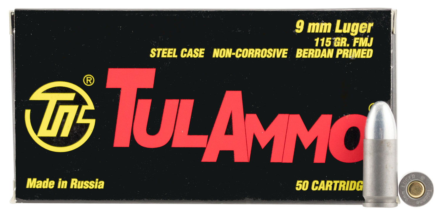 Tulammo TA919150 TULAMMO 9mm Full Metal Jacket 115 GR 50Box/20Case