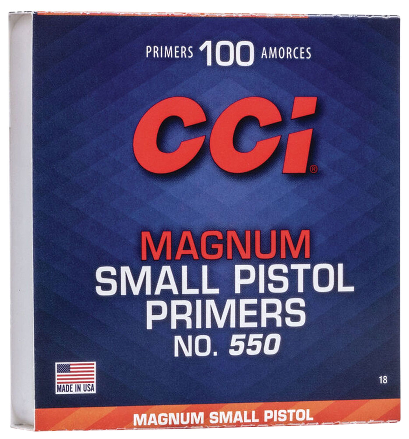 CCI 0018 Primer Small Pistol 10 Boxes of 100 Primer