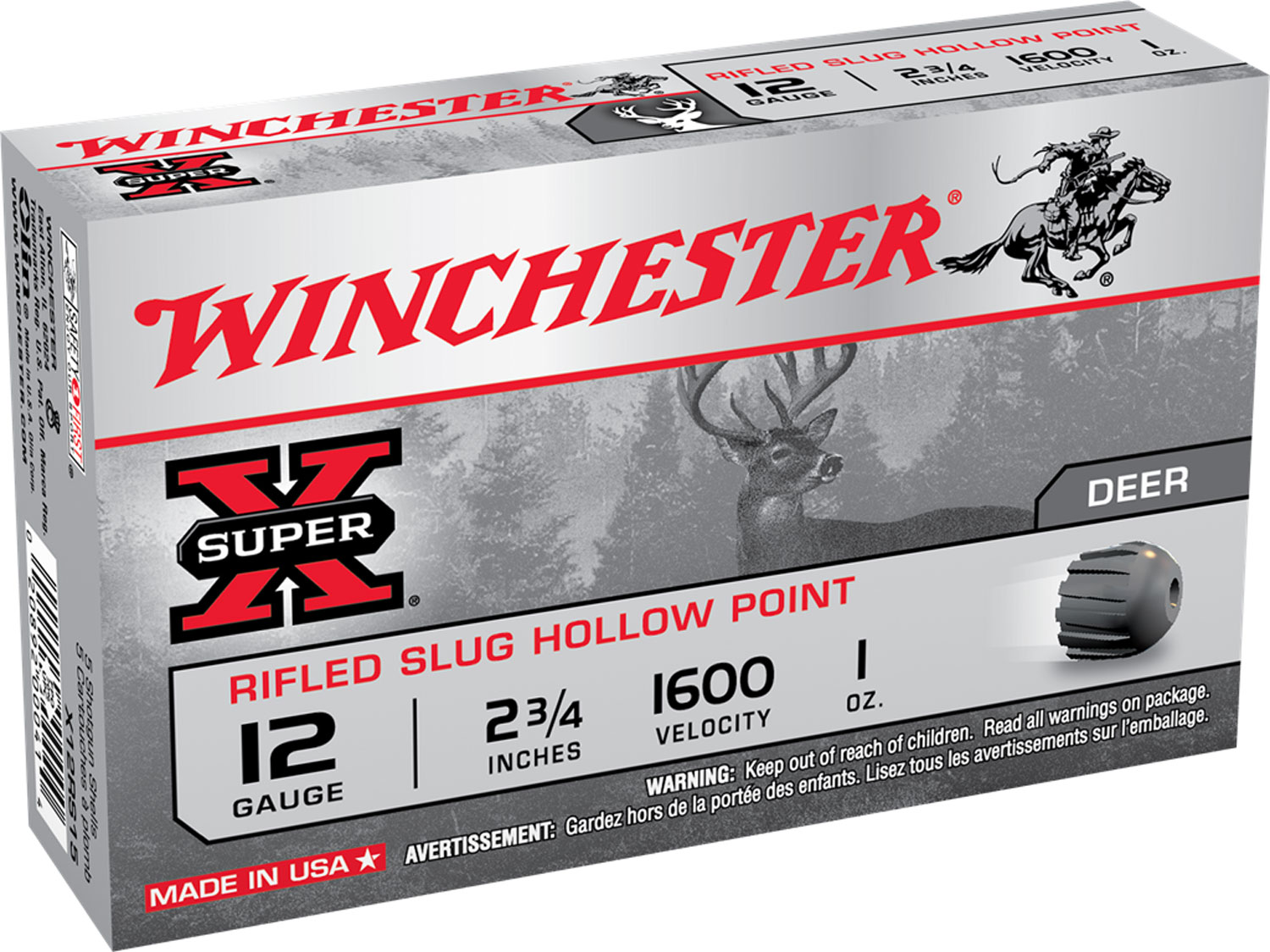 Winchester X12RS15 Super-X Slugs 12 ga 2.75