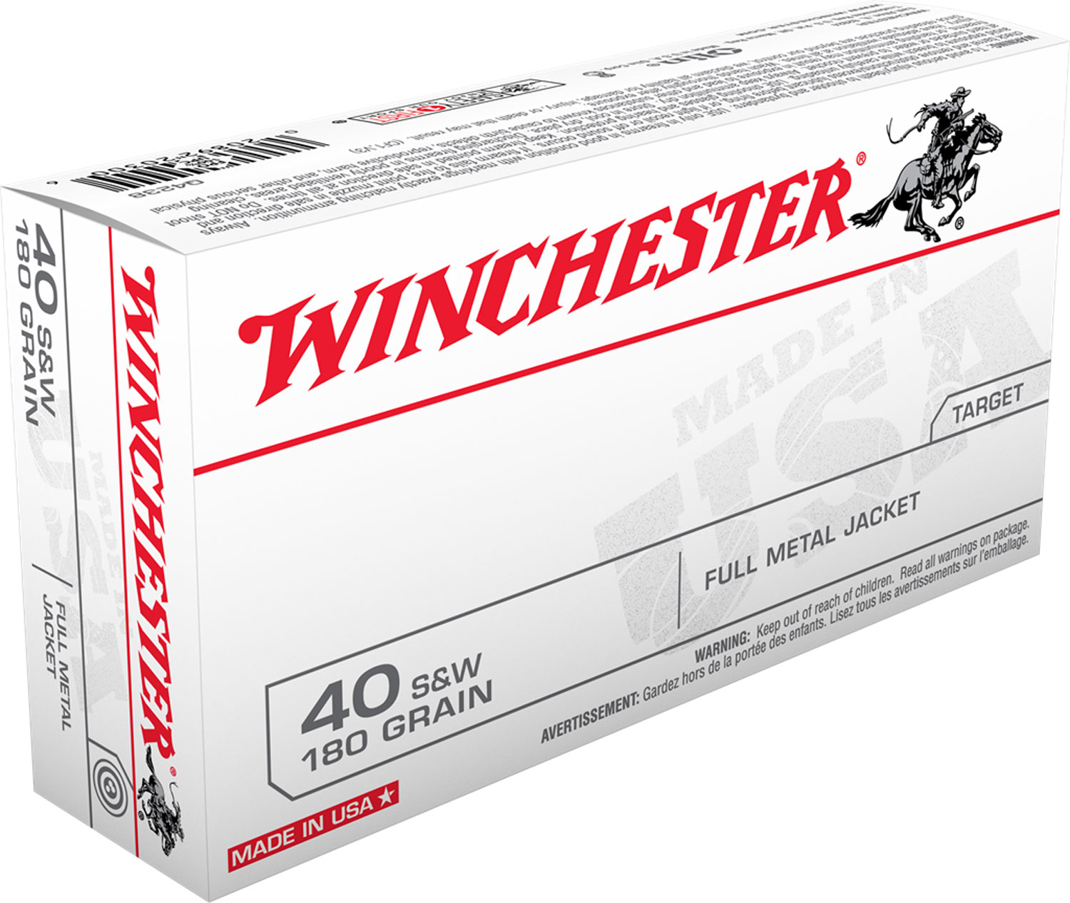 Winchester 180 GR FMJ 40S&W 1000RDS