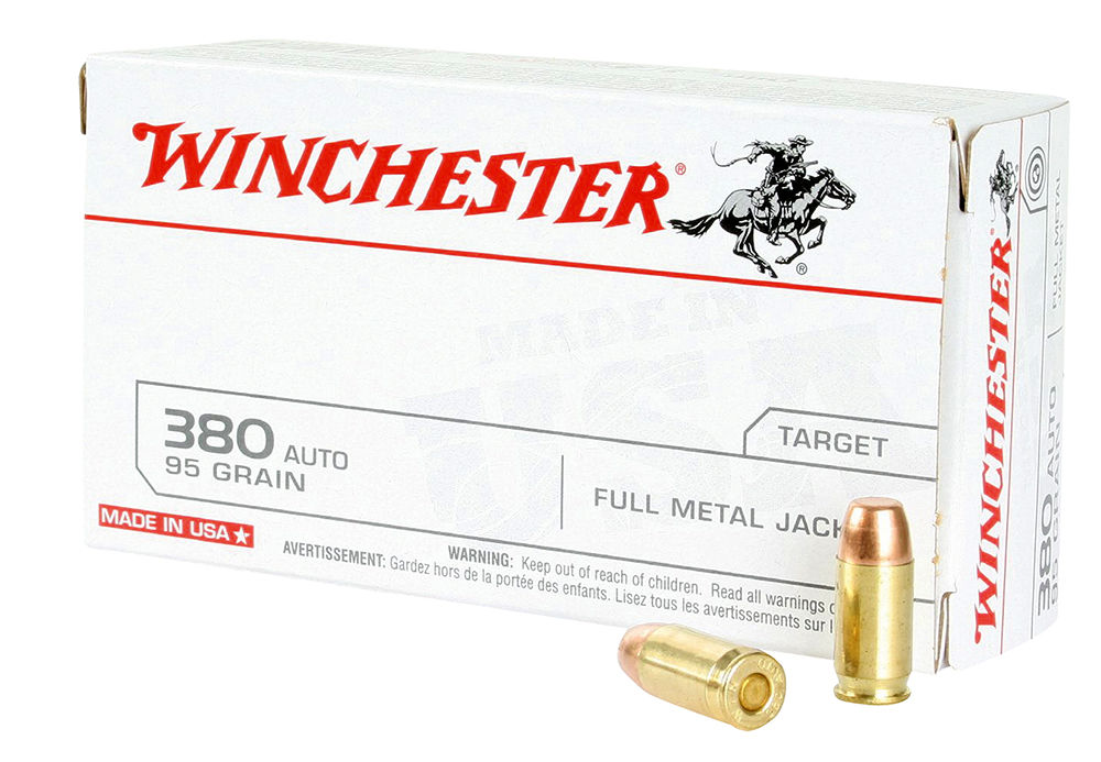 Winchester 380 ACP FMJ 95 GR 500 RDS