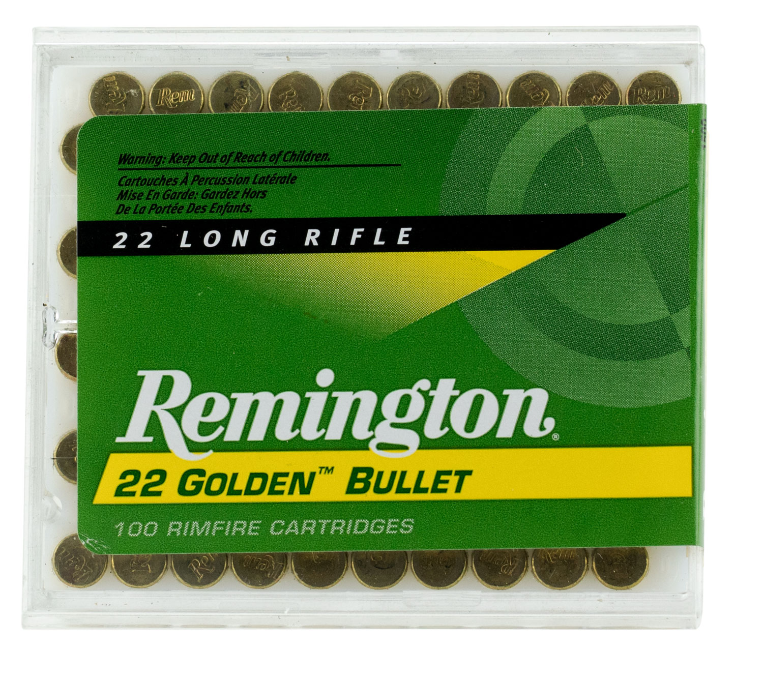 Rem Ammo 1500 22LR 40GR HV 100Bx/50Cs Plated Lead Round Nose