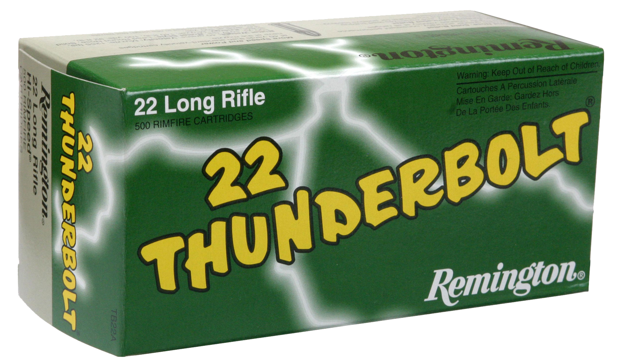 Remington Ammunition TB22A Thunderbolt 22 LR Round Nose 40 GR 50Box/100Case