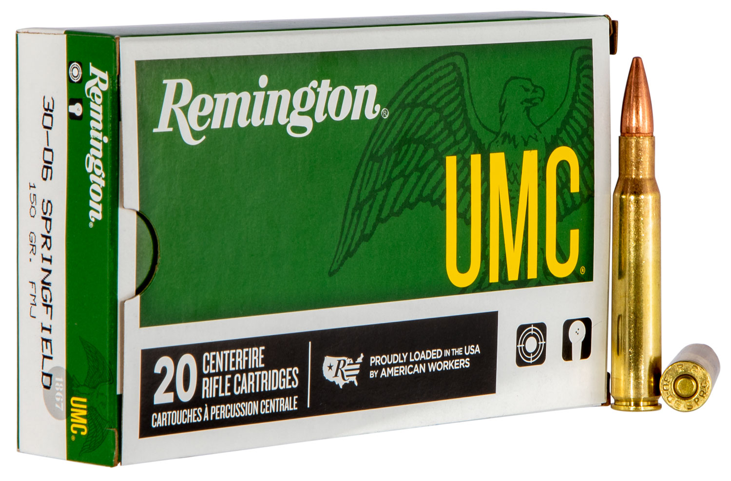 Remington Ammunition L223R3 UMC 223 Rem/5.56 NATO 55GR Metal Case 20Box/10Case