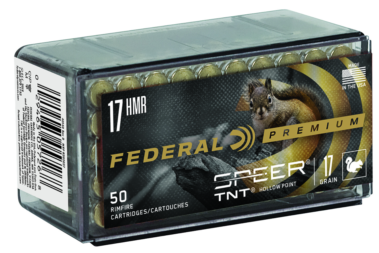 Federal P770 Premium 17 HMR Speer TNT Jacketed Hollow Point 17 GR 50Box/60Case