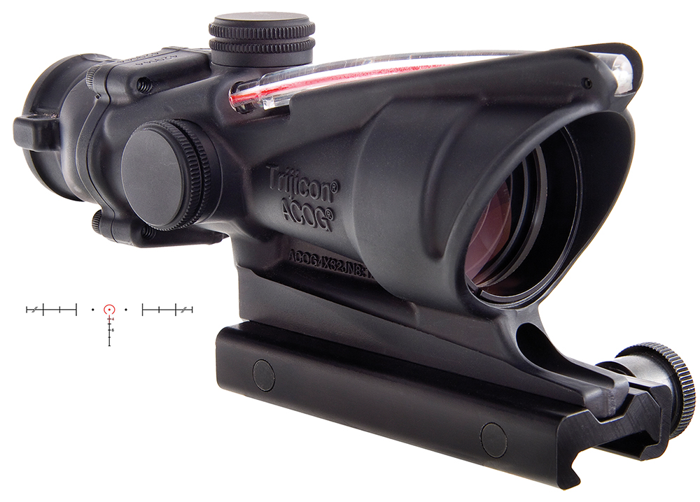 Trijicon TA31H68 ACOG 4x32mm w/TA51 Mnt 6.8SPC Red Horseshoe 36.80ft@100yds Blk