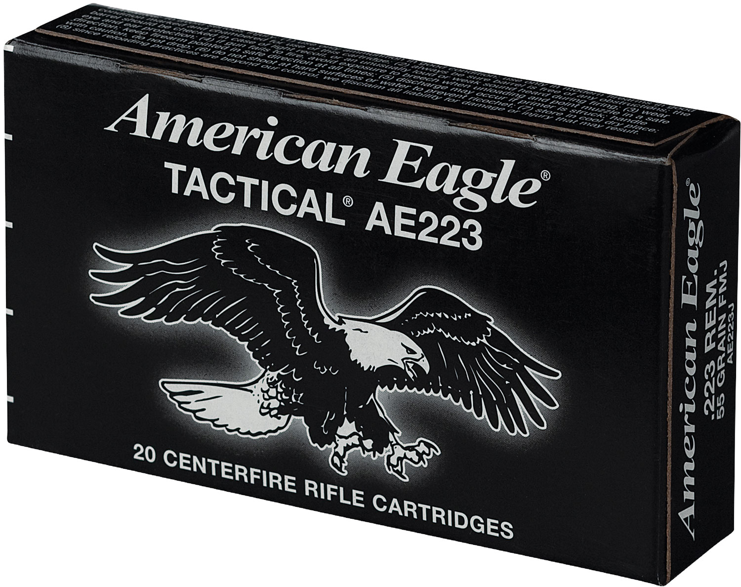 Federal AE223J Standard 223 Rem/5.56 NATO Full Metal Jacket BT 55 GR 20Box/25Cs