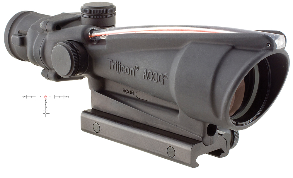 Trijicon TA11H ACOG 3.5x 35mm 28.90ft@100yds Tube Blk Horseshoe W/Target Ref Sys