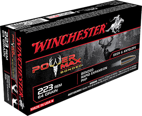 Win Ammo X223R2BP Super X 223 Rem/5.56 Nato Power Max Bonded 64 GR 20Box/10Case