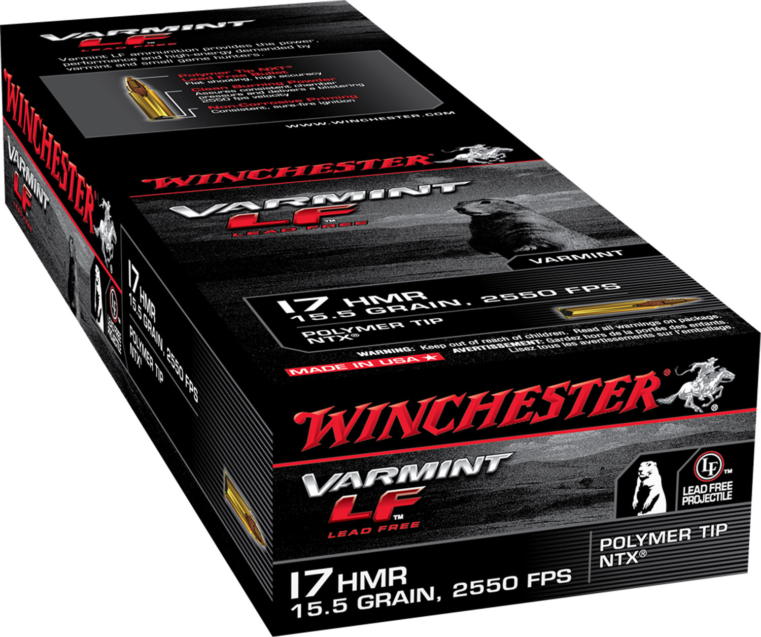 Winchester Ammo S17HMR1LF XPert 17 HMR Jacketed Hollow Point 15.5GR 50Box/20Case
