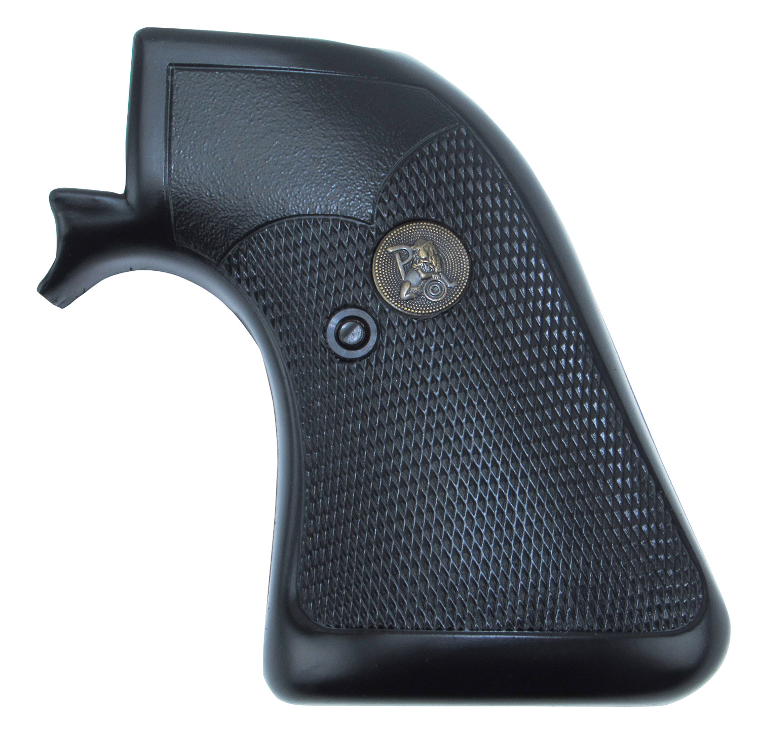 Pachmayr 03137 Presentation Grip Ruger Blackhawk/Single Six Checkered Blk Rubber
