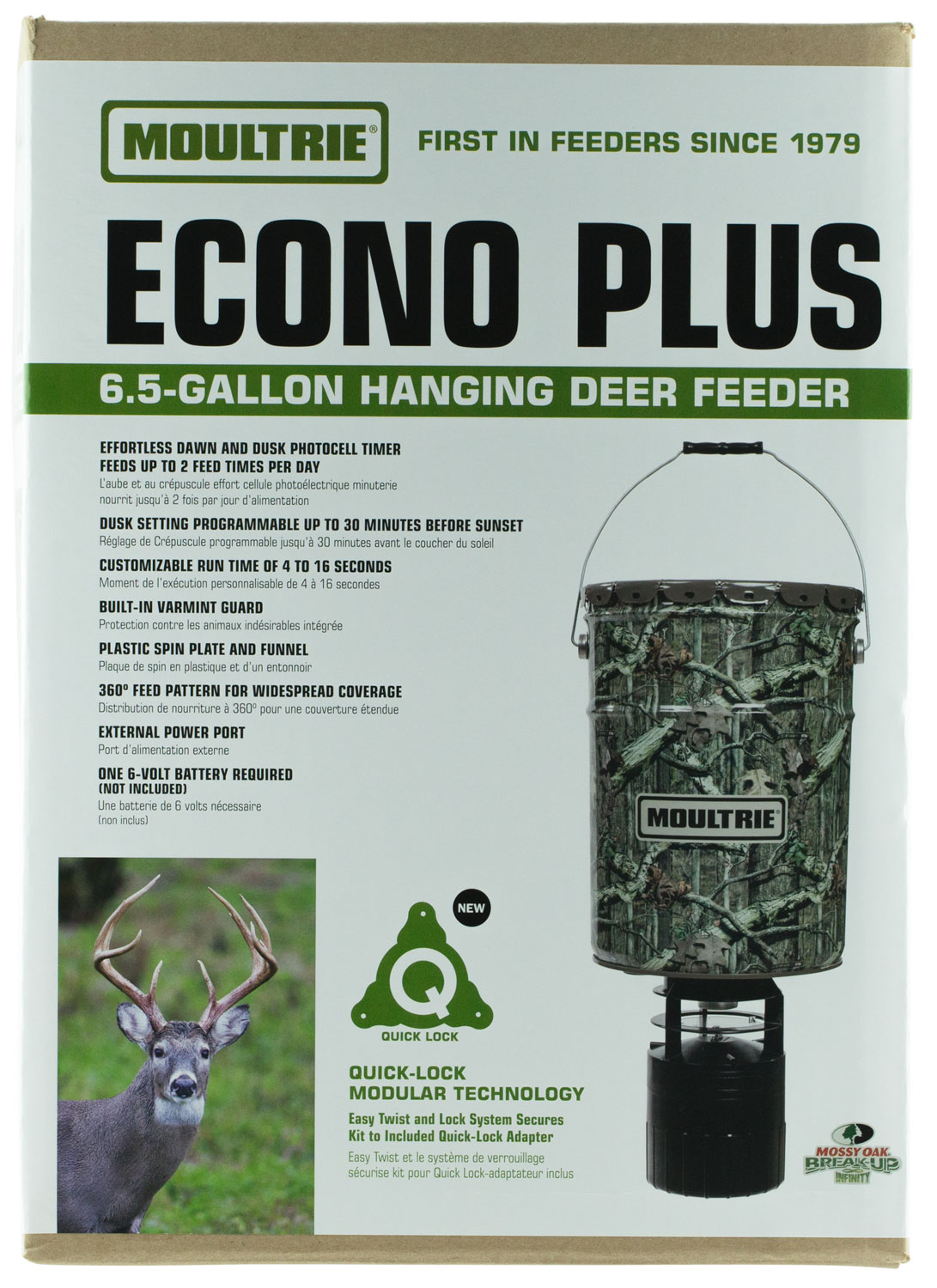 Moultrie MFHPHB65 Pro Hunter Hanging Feeder 6.5 Gal