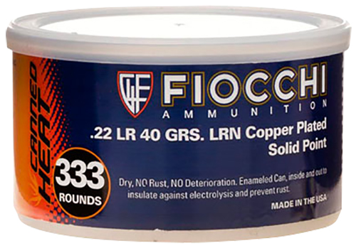 Fiocchi 22CHVCR3 Canned Heat 22LR Copper Plated Solid Point 40 GR 333Box/3Cs
