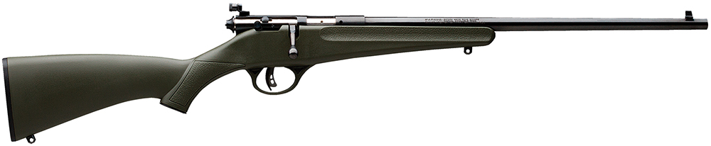 Savage 13790 Rascal Bolt 22 Long Rifle  Green Synthetic Black