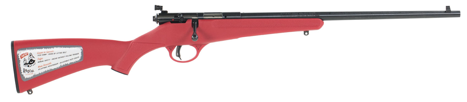 Savage 13795 Rascal Bolt 22 Long Rifle  Red Synthetic