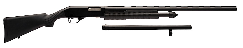 "Stevens 320C Pump 12 ga 28"" Barrel VR Mod/18.5"" Barrel CB Syn Black"