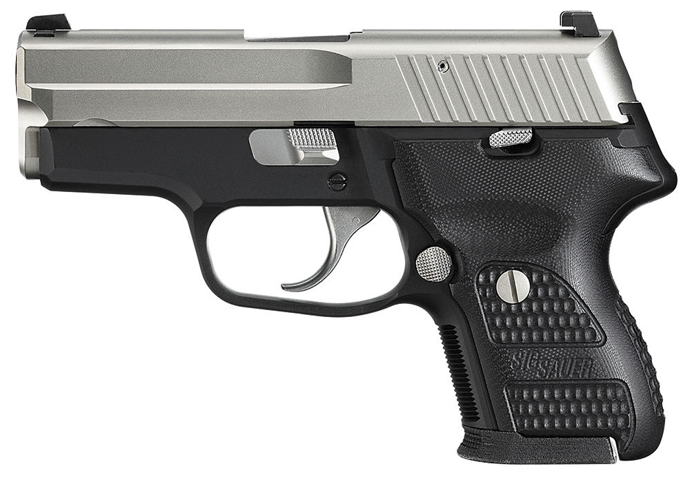 Sig Sauer E249NSS P224 Nickel 9mm 3.5″ 12+1 Blk Poly Grip Blk Frame Nickel Slide
