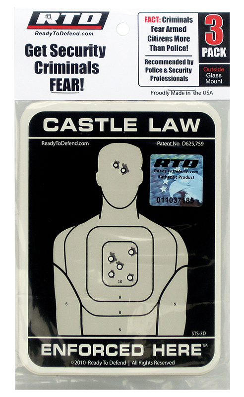 RTD STS-3D Decal Castle Law Enforced Here 3.5x4.5