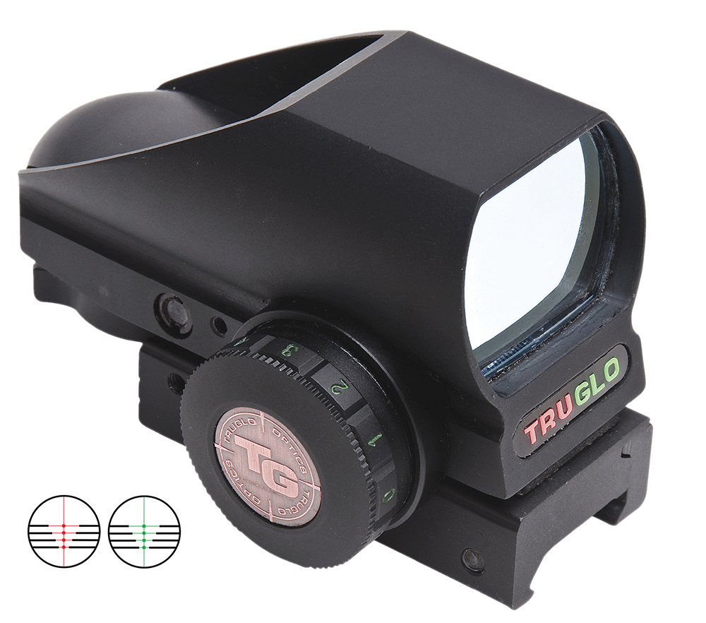 Truglo TG8380B4 Crossbow RedDot Sight 1x 24x34mm 74 ft-30ft@100yds 30mm Tube Blk