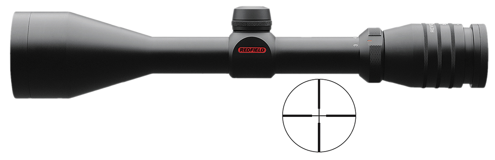 Redfield 115212 3-9x 52mm Obj 32.7-11.5ft@100yds FOV 1″ Tube Blk 4 Plex
